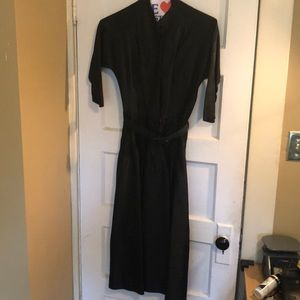 🤗🤩👗Truly Vintage black cinched waist dress